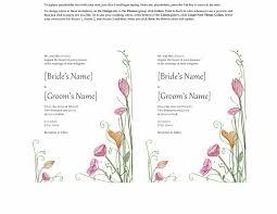 sles of wedding programs word wedding templates free ms word family wedding program