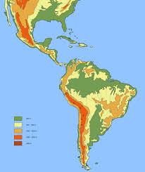 Geographical Map Of South America by Large Detailed Physical And Hydrographic Map Of Latin America