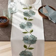 crate and barrel table runner margo embroidered table runner crate and barrel