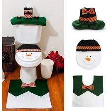 Snowman Rug Yeduo 1 Sets Happy Snowman Christmas Bathroom Set Toilet Seat