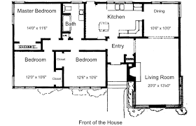Floor Plan Of Two Bedroom House by Simple House Floor Plans High Resolution Two Bedroom House Plans