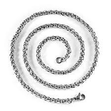 titanium link necklace images Masop men 39 s titanium stainless steel 5mm spiga wheat chain link jpg
