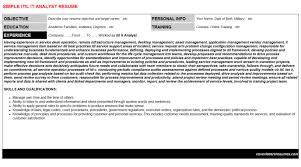 itil it analyst cover letter u0026 resume