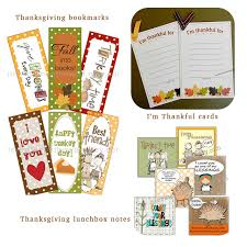 thanksgiving bookmarks lunchbox notes and thankful cards