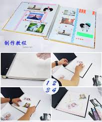 high capacity photo album new 12 inch diy viscose photo album 20 pcs static laminating