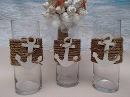 the nautical vases are wrapped in premium natural fiber and