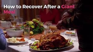 how to recover after a meal real simple