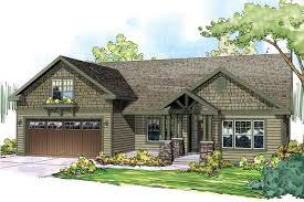 craftsman style ranch home plans craftsman front elevation plan 124 867 houseplans for the