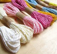 colored raffia solid colored twine twisted rope raffia for decoration gift wrap