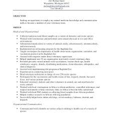 veterinary assistant resume objective examples sweet technician