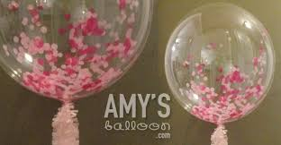 jumbo balloons confetti filled balloons glitter balloons delivery in new york