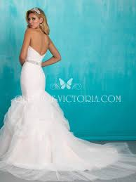 soft ruched tulle strapless trumpet mermaid wedding dress with