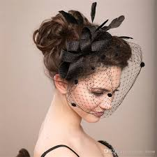 cheap hair accessories fashion black feather bow fascinator mini hat bridal hair
