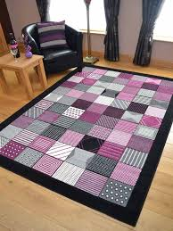 Lilac Runner Rug Black Grey And Plum Purple Pink Runners Small Large