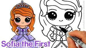 how to draw sofia the first step by step chibi disney princess