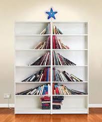 How To Make Tree Bookshelf Tall Books Christmas Trees Pinterest Christmas Tree