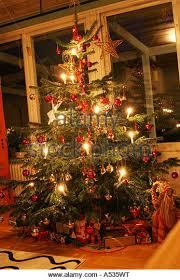swedish christmas decorations swedish christmas tree stock photos swedish christmas tree stock