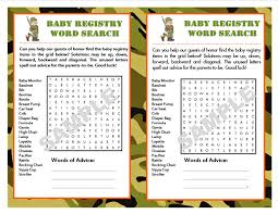 baby registries search baby registry camouflage printable word search with