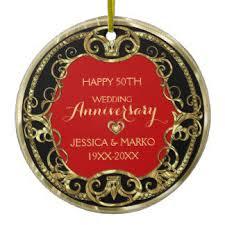 50th wedding anniversary christmas ornament burgundy heart ornaments u0026 keepsake ornaments zazzle