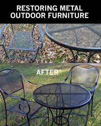 How To Clean Outdoor Patio Furniture Restore Metal Outdoor Furniture To Like New Metal Furniture