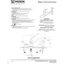 Moen Shower Head Parts Diagram Moen 7430 Chateau Chrome One Handle With Sidespray Kitchen Faucets