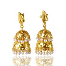 jhumka earrings gold jhumka india tuch solid silver gold plated traditional jhumka
