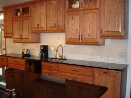 Honey Oak Cabinets Grey Kitchen Cabinets Pictures Black Backsplash - Kitchen backsplash ideas with dark oak cabinets