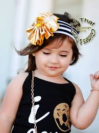 big flower headbands black white gold striped big flower baby headbands