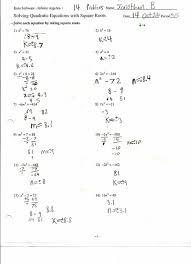 factor quadratic equations worksheet worksheets