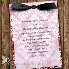 layered wedding invitations floral black ribbon layered wedding invites iwfc038 wedding