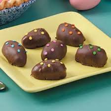 peanut butter eggs for easter peanut butter and marshmallow chocolate eggs recipe taste of home
