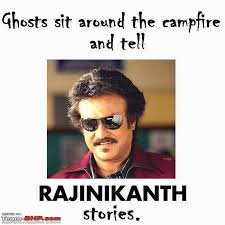 Meme Stories - funny rajinikanth meme ghosts sit around the cfire and tell