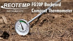 reotemp fg20p backyard compost thermometer youtube