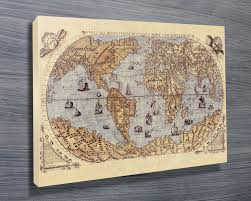 World Map Canvas Medieval World Map Canvas Art Print Australia
