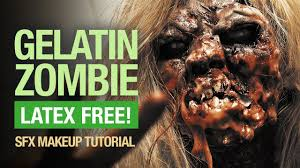 easy halloween zombie makeup tutorial latex free youtube