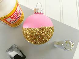 diy ornament in pink gold moment