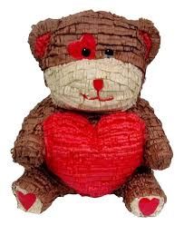 valentines day teddy medium day teddy pinata custom party pinatas
