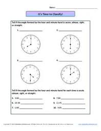it u0027s time to classify angles 4th grade geometry worksheets