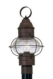 Outdoor Post Light Fixtures by Designers Fountain 1766 Rt Nantucket Post Lanterns Rustique