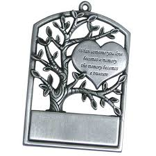 polar at tree engraved pewter ornament personalized