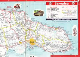 World Map Jamaica by Esso Jamaica Road Map 1961 Ocho Rios And East