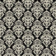 seamless classic black and white background damask ornament
