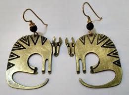 laurel burch earrings laurel burch vintage mythical beast stylized cat brass earrings