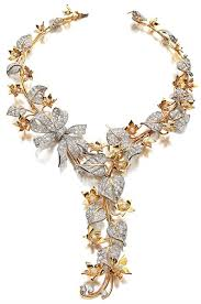 diamond flower necklace images Diamond and gold flower necklace 1938 paul flato countess jpg
