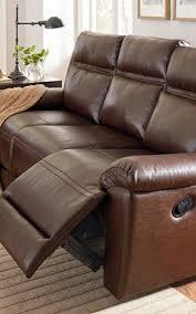 Motion Leather Sofa Loon Peak Maricopa Manual Motion Leather Reclining Sofa Reviews