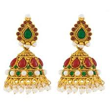 jhumki earring gold plated jhumki earing antique jewellery temple jewellery