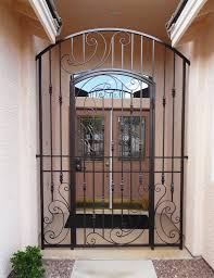 home courtyard courtyard entry gates artistic iron works ornamental wrought