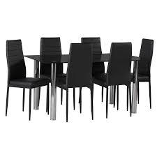 Black Glass Dining Room Sets Dior Black Glass Dining Table U0026 6 X Betty Dining Chair U2022 Decofurn