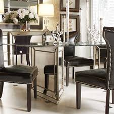 Mirrored Dining Room Furniture Hattie Mirrored Dining Table Reviews Joss