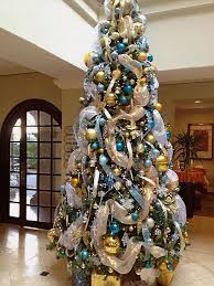 Decorate Your Christmas Tree Online by Marvelous Blue And Gold Christmas Tree 66 For Your Modern Home